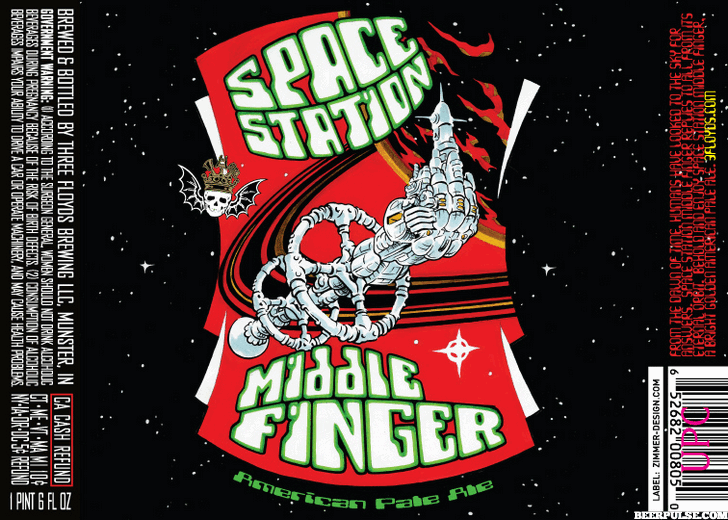Space nation middle finger