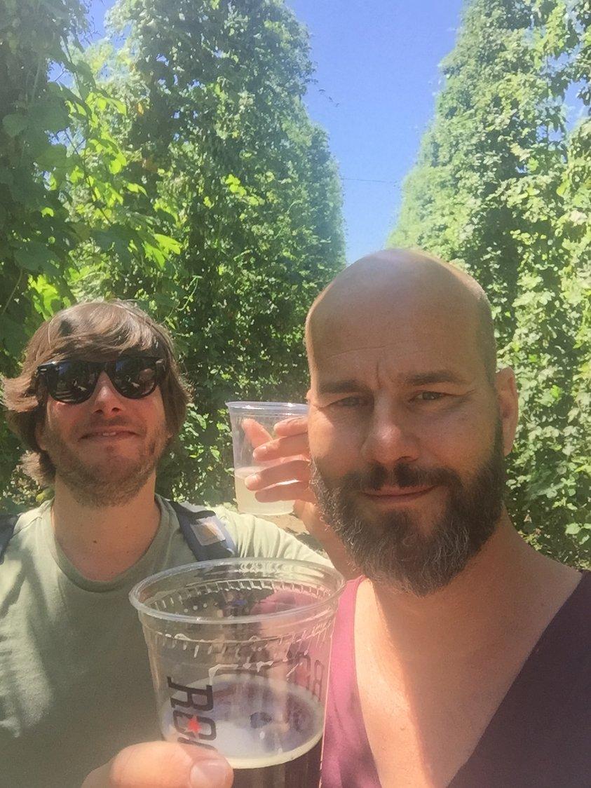 olivier ko drinking portland hops