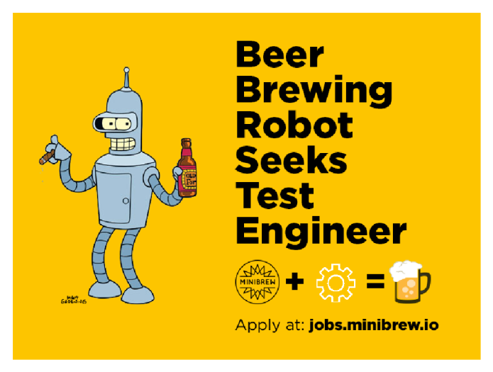 MiniBrew seeks test engineer